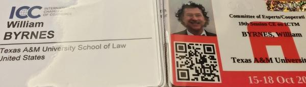 William Byrnes UN credentials
